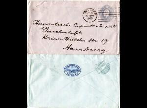 GB 1905, 2 1/2d Bank Of India Ganzsachenumschlag m. London Maschinenstempel