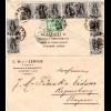 Griechenland 1902, 5+10x2 L. rücks. auf Firmen Brief v. Athen n. Bayern.