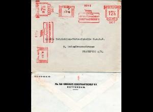 NL 1936, 12 1/2+ 7 1/2 C. Schiffahrts Firmenfreistempel auf Brief v. Rotterdam