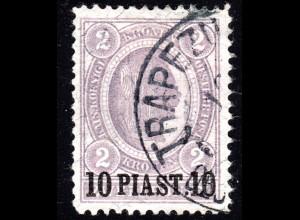 Österreich Post Levante, 10 Pia./2 Kr. m. Türkei Stpl. TRAPEZUNT