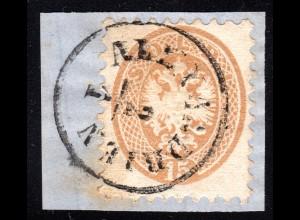 Österreich Post Levante, 15 S. auf Briefstück m. Ägypten Stempel ALEXANDRIEN
