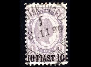 Österreich Post Levante, sehr schmale 10 Pia./1 G. m. Stpl. Constantinolpel