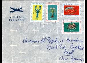 NL Nieuw Guinea 1952, Krebs Ausgabe kpl. auf Brief v. Biak