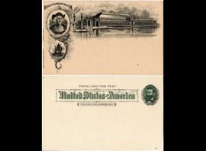 USA 1893, Abb. Columbus auf Bild Ganzsache zur World´s Columbian Exposition
