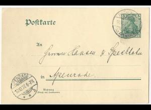 DR 1907, Schleswig Stpl Rothenkrug Kr Apenrade auf Ganzsache v Norderhostrup #78