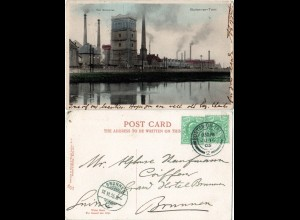 GB, Burton-on-Trent, The Breweries, 1905 gebr. Brauerei Farb-AK
