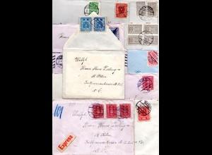 Österreich, 12 Briefe m. Inhalt u. versch. Frankaturen v. Wien n. St. Pölten