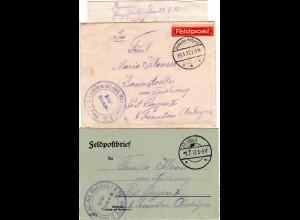 Bayern 1917, 2 Feldpost Briefe Inf.Batl. MINDELHEIM aus Rumänien