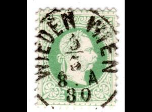 Österreich, 3 Kr. Linienzähnung m. zentr. Stpl. WIEDEN WIEN