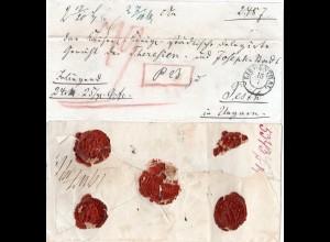 Preussen, Schlesien-K2 LIEBENTHAL auf gesiegeltem Wert Brief n. Ungarn