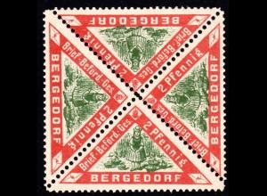 Bergedorf, postfrischer 4er-Block 2 Pf. Obsternte