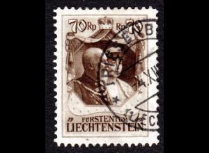Liechtenstein Nr. 93, sauber gest. 70 Rp.
