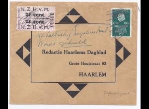 NL 1964, Schiedam Straßenbahnpostmarke auf Presse Brief n. Haarlem. #1768