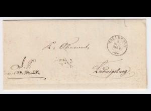 Württemberg 1869, 2x verw. Brief Maulbronnn Ludwigsburg, Schwieberdingen. #2002