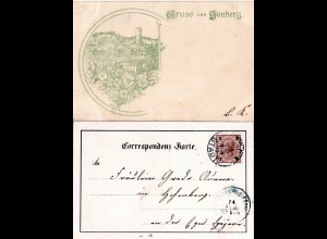 Österreich Böhmen, Gruss aus Neuberg, 1893 v. Asch gebr. Vorläufertype AK