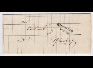 Baden 1841, L2 Sinsheim auf Brief m. interessantem Inhalt! #1924