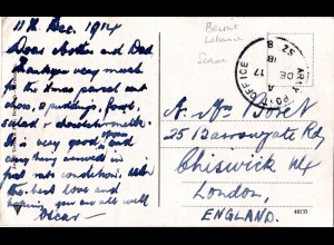 GB/Turkey 1915, censored field post card from APO SZ 8 Beirut