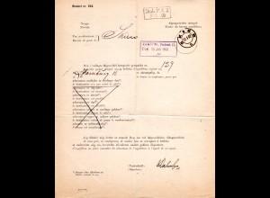Norwegen 1902, Postformular Blanket nr. 224 v. Skien m. versch. Hamburg Stempeln