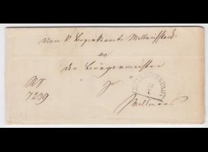 Bayern 1870, HKS Mellrichstadt auf Brief m. Inhalt n. Willmars. #2012