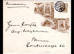 DR 1905, 3 Pf. Germania Privat Ganzsache Brief, gebr. als Ortsbrief v. Bremen 5a
