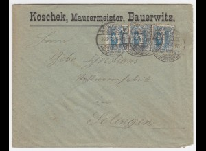 Oberschlesien 1921, Bauerwitz, Firmen Brief m. MeF. #1984