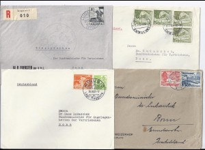 Schweiz 1951/53, 4 Brief an BRD Minister f. Vertriebene, Dr. Lukaschek. #186