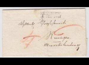 Württemberg, L2 Münsingen m. korrigiertem Datum!! Porto Brief. #1493