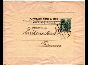 Österreich 1905, ab Wien gebr. 5 H. Privatganzsache A. Pichlers Witwe & Sohn