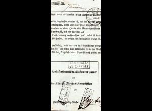 Preussen 1859, R2 Tarnowitz, Myslowitz u. Beuthen auf Post-Insinuations Brief