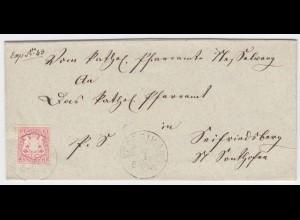 Bayern, K1 Nesselwang auf Brief m. 3 Kr. n. Seifriedsberg b. Sonthofen. #1989