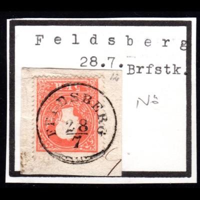Österreich, 5 Kr. auf schönem Briefstück m. Niederösterreich-K1 FELDSBERG