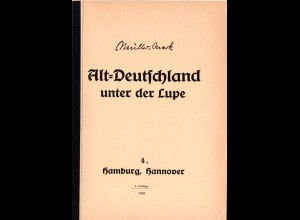 Müller-Mark, E., Alt-Deutschland unter der Lupe, 4. Hamburg, Hannover