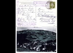 DR 1932, MORGENRÖTHE Auerbach (Vogtl.) Land, Landpost Stpl. auf AK m. 6 Pf.