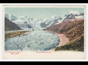 Schweiz, Graubünden, Morteratsch Gletscher, ungebr. Farb-AK. #493