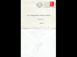 Dänemark 1934, 15 öre auf Brief v. Kopenhagen m. rs. Island Konsulats Cachet