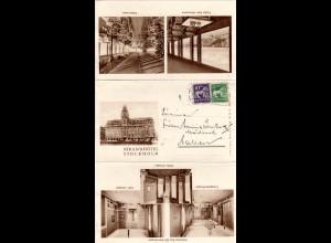 Schweden 1932, 5+10 öre auf Hotel Bilder Brief v. Stockholm