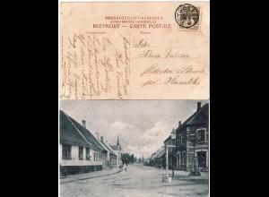 Dänemark 1910, Sternstempel TRYGGELVEN klar auf AK m. 3 öre. Seltener Stempel!