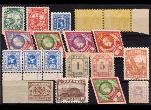 Stadtpost Bergedorf, Berlin, Bochum, Hamburg, Mainz, 19 ungebr. Marken