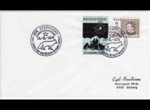 Grönland 1976, JUl Marke+60 öre auf Brief m. Weihnachten Sonderstempel