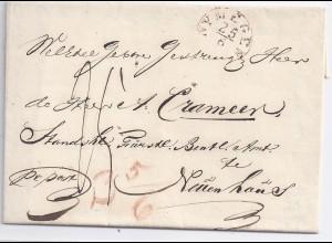 NL Hannover 1849, K1 NYMEGEN auf Porto Brief n. Neuenhaus. Gute Erhaltung! #180