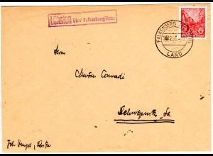 DDR 1956, Landpost Stpl. LÖHSTEN über Falkenberg/Elster auf Brief m. 20 Pf.