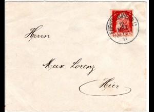 Bayern 1911, 10 Pf. GAA auf Brief v. FÜRTH 2