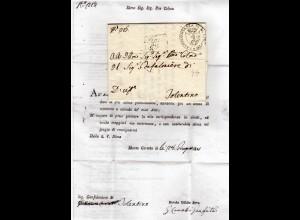 Italien 1821, Wappensiegel Stpl. m. Abb. Greif v. Monte Carotto