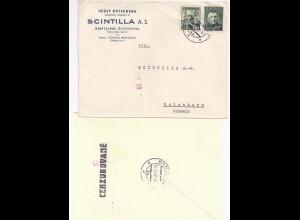 Slovensko Slowakei Schweiz 1942, Brief v. Bratislava m. Zensur Censor59. #753
