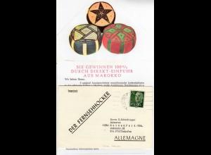 Spanien 1959, 70 C. auf Klappdrucksache v. CEUTA Marokko n. Deutschland