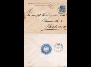 Spanien 1893, 25 C. auf Brief Kaiserlich Deutsches Konsulat in San Sebastian