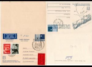 Liechtenstein, 30+30 C. hin+her gebr. Doppelkarte, Antwort per Eilboten v. Wien