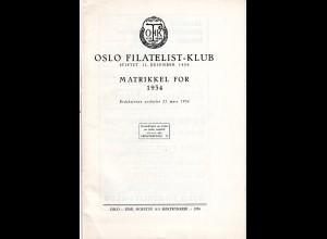 Norwegen, Oslo Filatelist-Klub, Matrikel for 1934 m. allen Mitgliedern! 31 S.