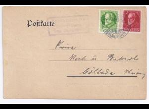 Bayern 1920, Posthilfstelle Untergrainau auf Karte m. 5+10 Pf.(Helbig 300). #381