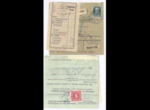 Bayern Österreich 1918, Immenstadt Paketkarte m. 60 Pf. u. Porto Frastanz. #892